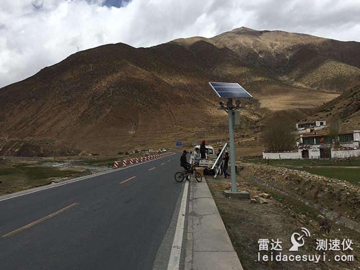 太阳能供电超速抓拍测速仪系统